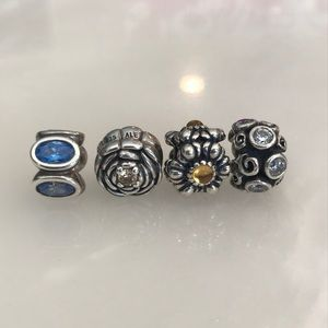Pandora charms with CZ's